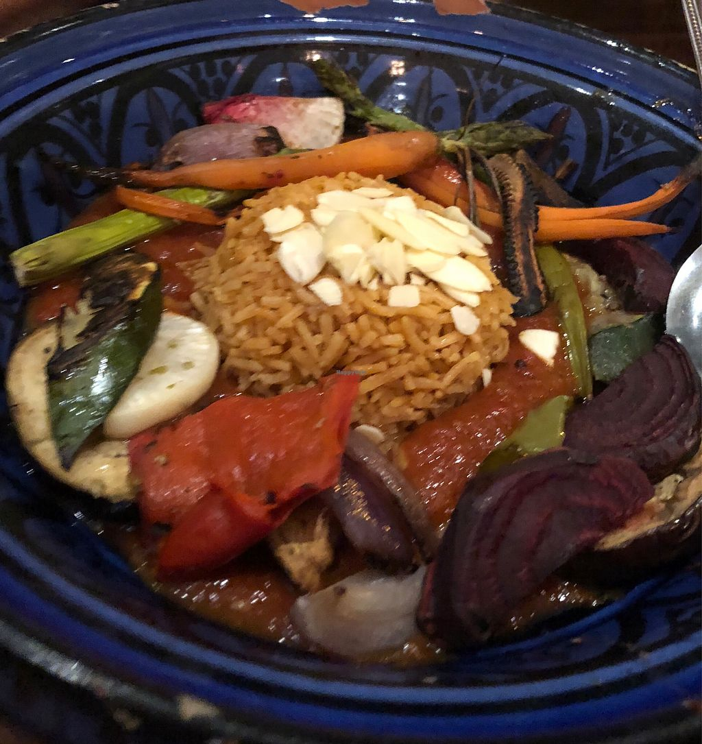 """Photo of 1001 Nights Restaurant & Cafe  by <a href=""""/members/profile/LanaJayde"""">LanaJayde</a> <br/>Vegetable tagine  <br/> April 16, 2018  - <a href='/contact/abuse/image/67693/386646'>Report</a>"""