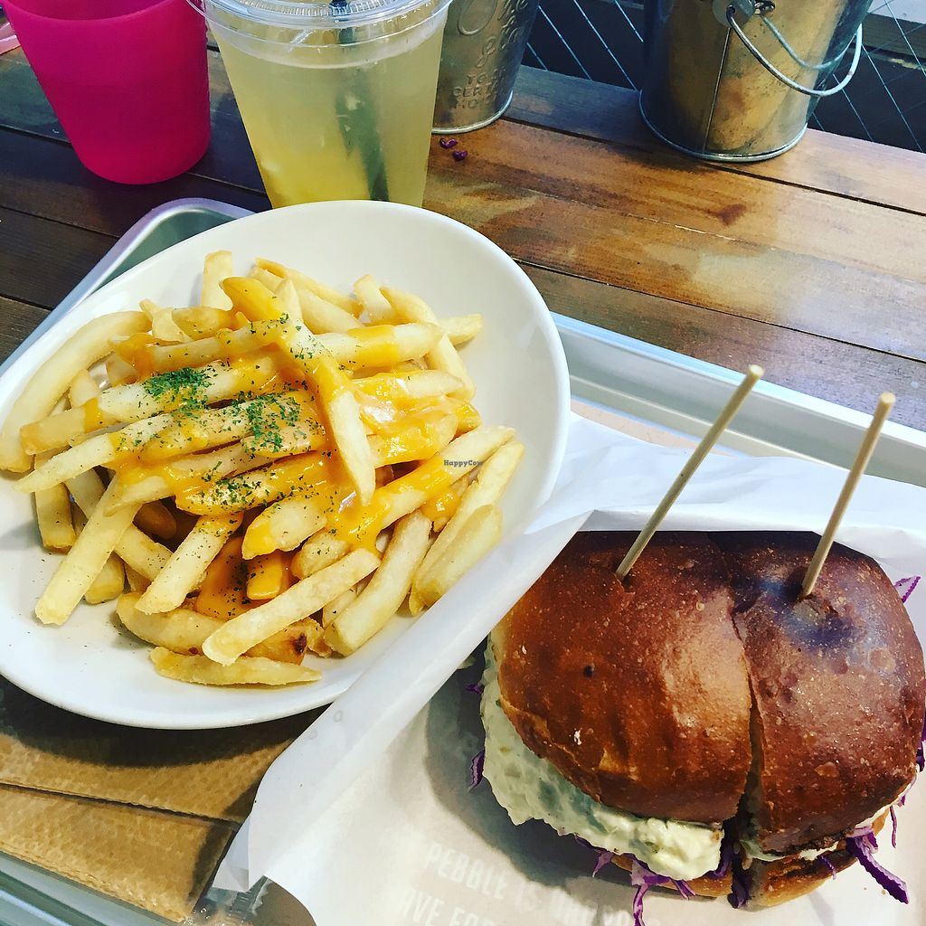 """Photo of Ain Soph.Ripple  by <a href=""""/members/profile/nolley.nolley"""">nolley.nolley</a> <br/>Vegan fried chicken burger & french fries  <br/> April 5, 2018  - <a href='/contact/abuse/image/67695/381169'>Report</a>"""