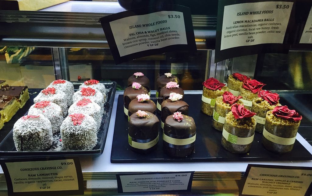 """Photo of Island Whole Foods  by <a href=""""/members/profile/karlaess"""">karlaess</a> <br/>Raw vegan treats <br/> January 9, 2016  - <a href='/contact/abuse/image/67701/131776'>Report</a>"""