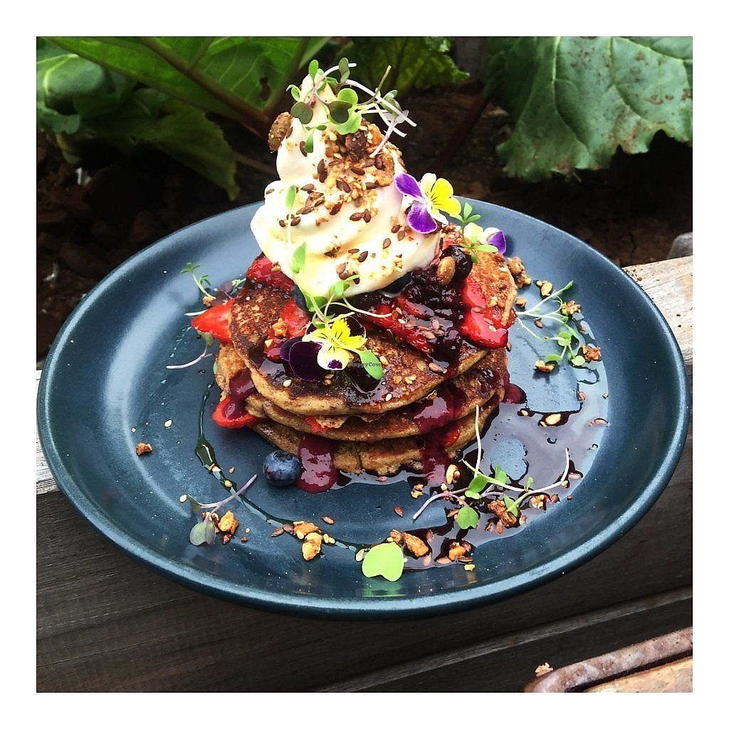 """Photo of Island Whole Foods  by <a href=""""/members/profile/Islandwholefoods"""">Islandwholefoods</a> <br/>BUCKWHEAT PANCAKES Fluffy gluten free buckwheat pancakes stacked with chia berrie jam, toasted nuts & seeds, fresh strawberries and cocohwhip with a drizzle of pure maple syrup <br/> August 21, 2017  - <a href='/contact/abuse/image/67701/295011'>Report</a>"""