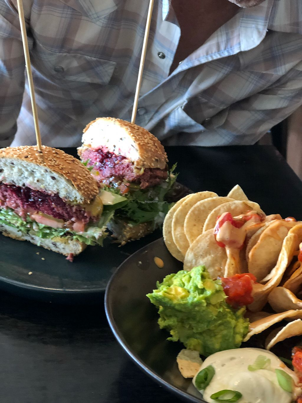 """Photo of Island Whole Foods  by <a href=""""/members/profile/EmilieZoeyBaker"""">EmilieZoeyBaker</a> <br/>Nachos and non beef burger <br/> March 17, 2018  - <a href='/contact/abuse/image/67701/371676'>Report</a>"""