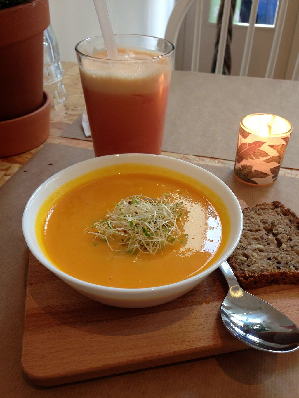 "Photo of Paper Plane  by <a href=""/members/profile/LolaKritz"">LolaKritz</a> <br/>pumpkin+redf lentil soup <br/> August 9, 2017  - <a href='/contact/abuse/image/67704/290939'>Report</a>"