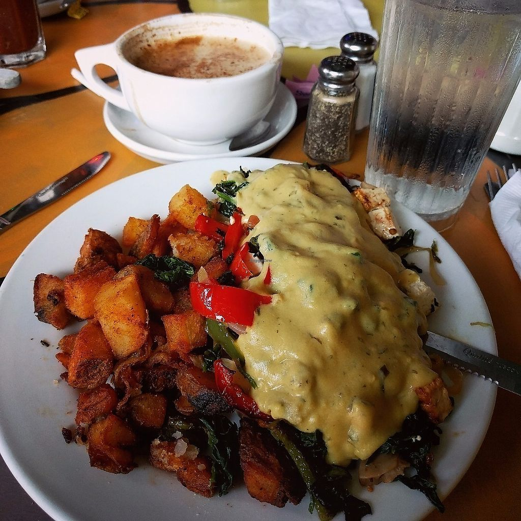 "Photo of Pick Me Up Cafe  by <a href=""/members/profile/makemenervous"">makemenervous</a> <br/>Vegan Tofu Benedict with Potatoes <br/> June 14, 2017  - <a href='/contact/abuse/image/6771/269232'>Report</a>"