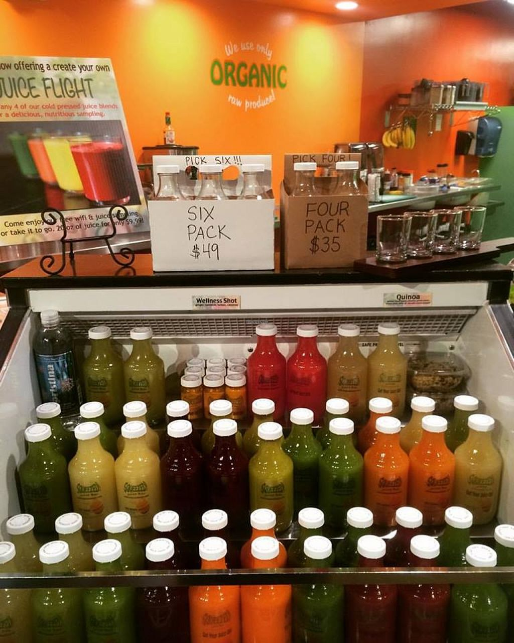 """Photo of Squeezed Juice Bar - Rio Rancho  by <a href=""""/members/profile/community"""">community</a> <br/>fresh juices  <br/> January 12, 2016  - <a href='/contact/abuse/image/67721/132144'>Report</a>"""