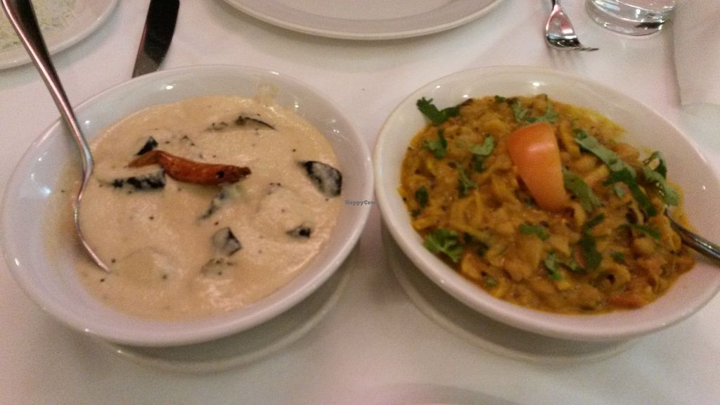 """Photo of Ury Authentic Indian Cuisine  by <a href=""""/members/profile/deadpledge"""">deadpledge</a> <br/>Vazhuthanangha curry and thakkali payaru curry  <br/> January 20, 2018  - <a href='/contact/abuse/image/67724/348762'>Report</a>"""