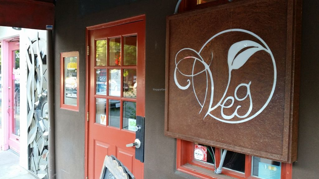 "Photo of Veg  by <a href=""/members/profile/karl8704"">karl8704</a> <br/>The front door for Veg on J Street. The restaurant is upstairs, above Thai Basil at 25th and J <br/> May 27, 2016  - <a href='/contact/abuse/image/67777/150938'>Report</a>"