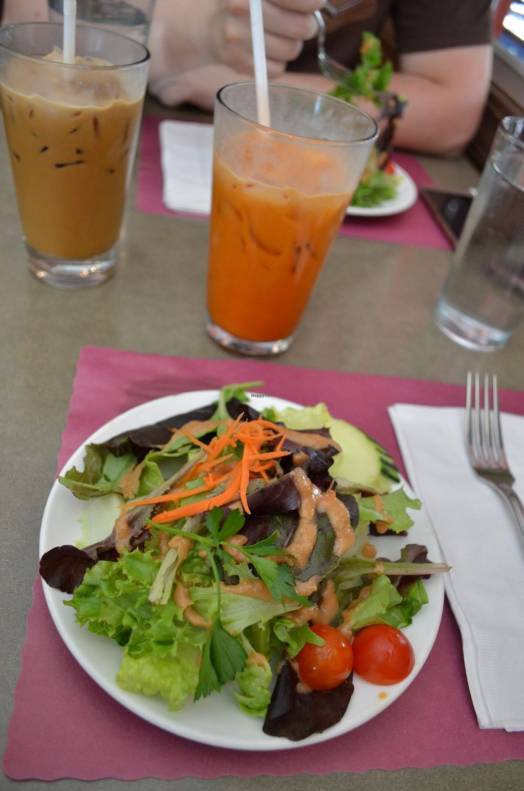 """Photo of Thai Basil Restaurant  by <a href=""""/members/profile/alexandra_vegan"""">alexandra_vegan</a> <br/>Salad with peanut sauce. Included in the daily menu <br/> May 16, 2016  - <a href='/contact/abuse/image/67778/149317'>Report</a>"""