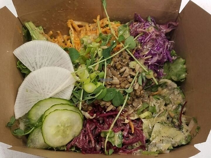 """Photo of Kupfert & Kim - Brookfield Place  by <a href=""""/members/profile/kenvegan"""">kenvegan</a> <br/>Lentil Loaf Salad <br/> September 9, 2016  - <a href='/contact/abuse/image/67806/174690'>Report</a>"""