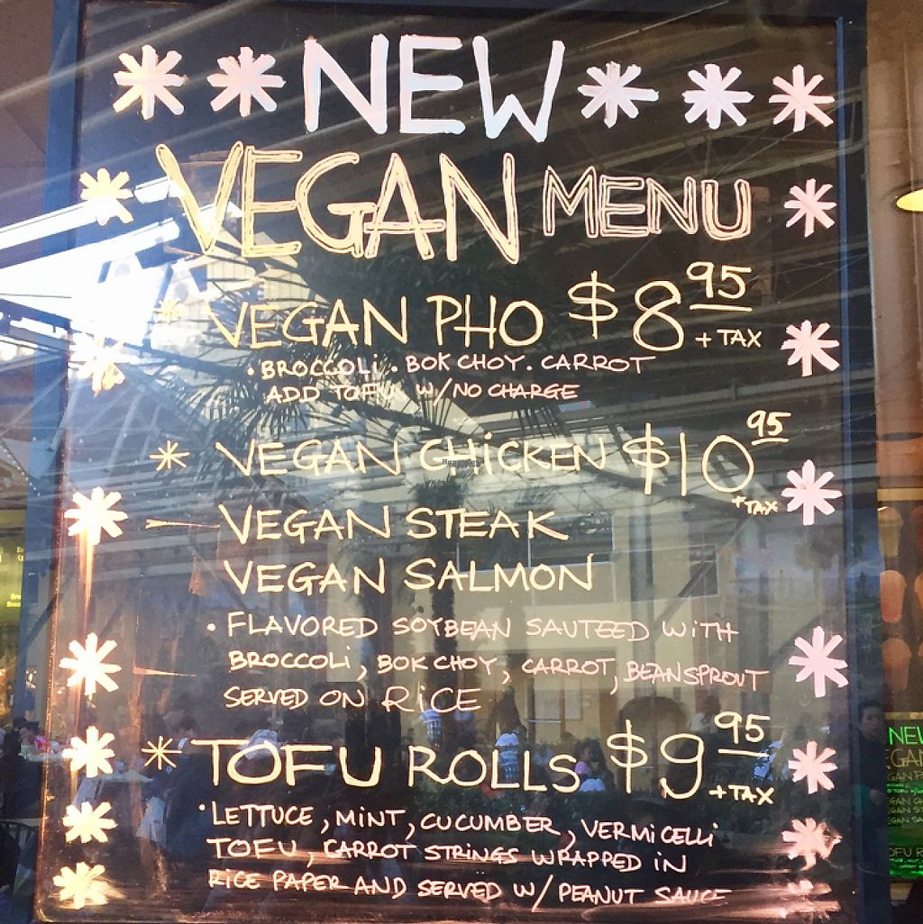 """Photo of Nibi Pho Bistro  by <a href=""""/members/profile/VeganCookieLover"""">VeganCookieLover</a> <br/>new vegan menu  <br/> January 14, 2017  - <a href='/contact/abuse/image/67822/212002'>Report</a>"""