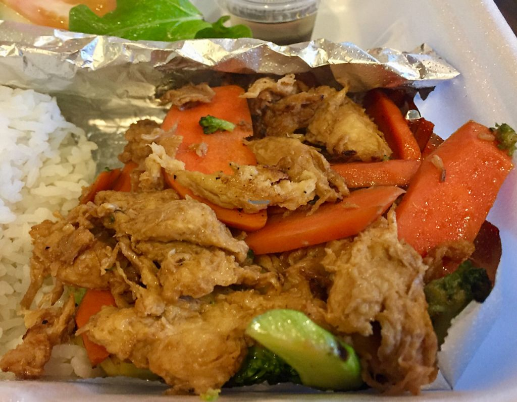 """Photo of Nibi Pho Bistro  by <a href=""""/members/profile/VeganCookieLover"""">VeganCookieLover</a> <br/>Vegan Chick'n and vegetables  <br/> January 14, 2017  - <a href='/contact/abuse/image/67822/212016'>Report</a>"""