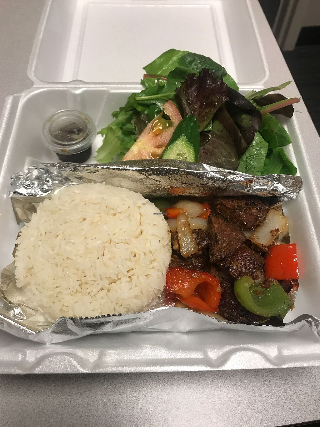 """Photo of Nibi Pho Bistro  by <a href=""""/members/profile/Vegan_Ness"""">Vegan_Ness</a> <br/>Vegan Steak  <br/> August 15, 2017  - <a href='/contact/abuse/image/67822/293066'>Report</a>"""