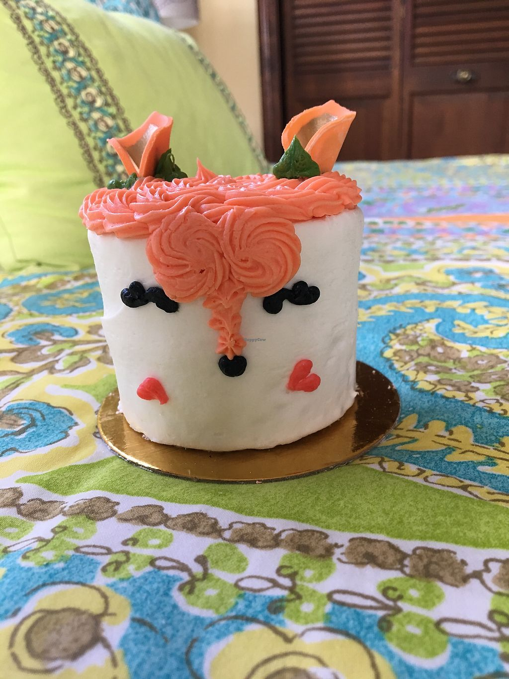"""Photo of Vegan Treats Bakery  by <a href=""""/members/profile/Thepennsyltuckyvegan"""">Thepennsyltuckyvegan</a> <br/>Fox Confetti Cake <br/> April 8, 2018  - <a href='/contact/abuse/image/6784/382681'>Report</a>"""
