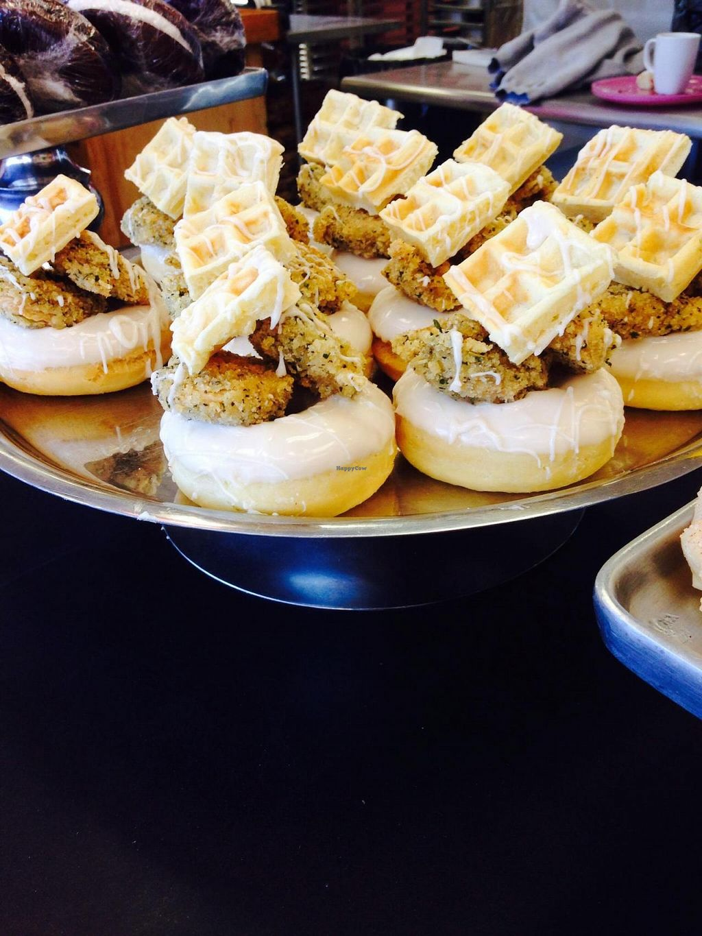 """Photo of Vegan Treats Bakery  by <a href=""""/members/profile/cookiem"""">cookiem</a> <br/>Chik'n and waffle doughnut!!! <br/> September 16, 2014  - <a href='/contact/abuse/image/6784/80143'>Report</a>"""