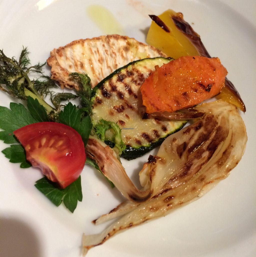 """Photo of Primorka Strunjan  by <a href=""""/members/profile/Arkie"""">Arkie</a> <br/>starter with grilled mediterranean vegetables <br/> January 3, 2016  - <a href='/contact/abuse/image/67863/131001'>Report</a>"""