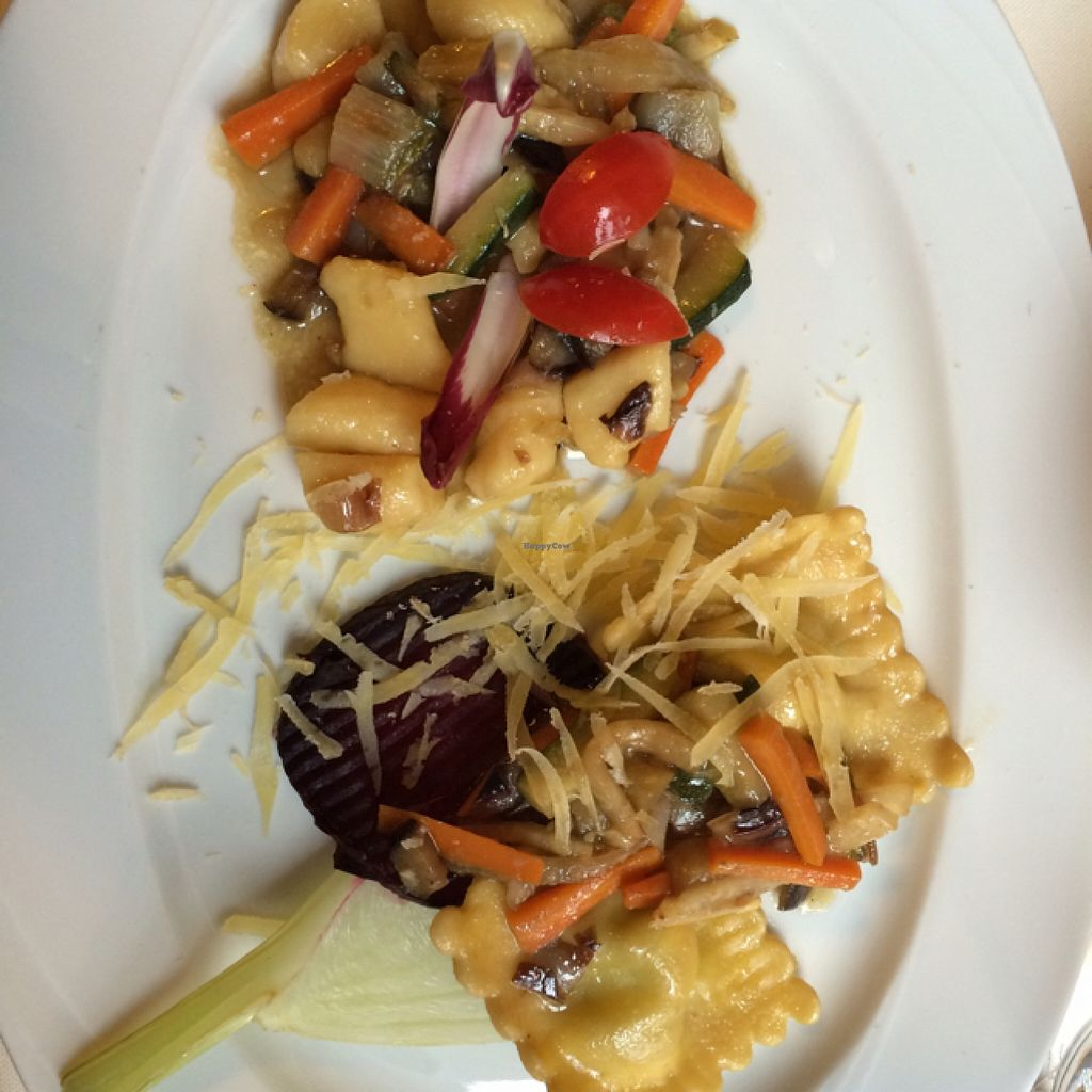 """Photo of Primorka Strunjan  by <a href=""""/members/profile/Arkie"""">Arkie</a> <br/>Ravioli with cabbage filling, potato gnocchi with vegetables <br/> January 4, 2016  - <a href='/contact/abuse/image/67863/131028'>Report</a>"""