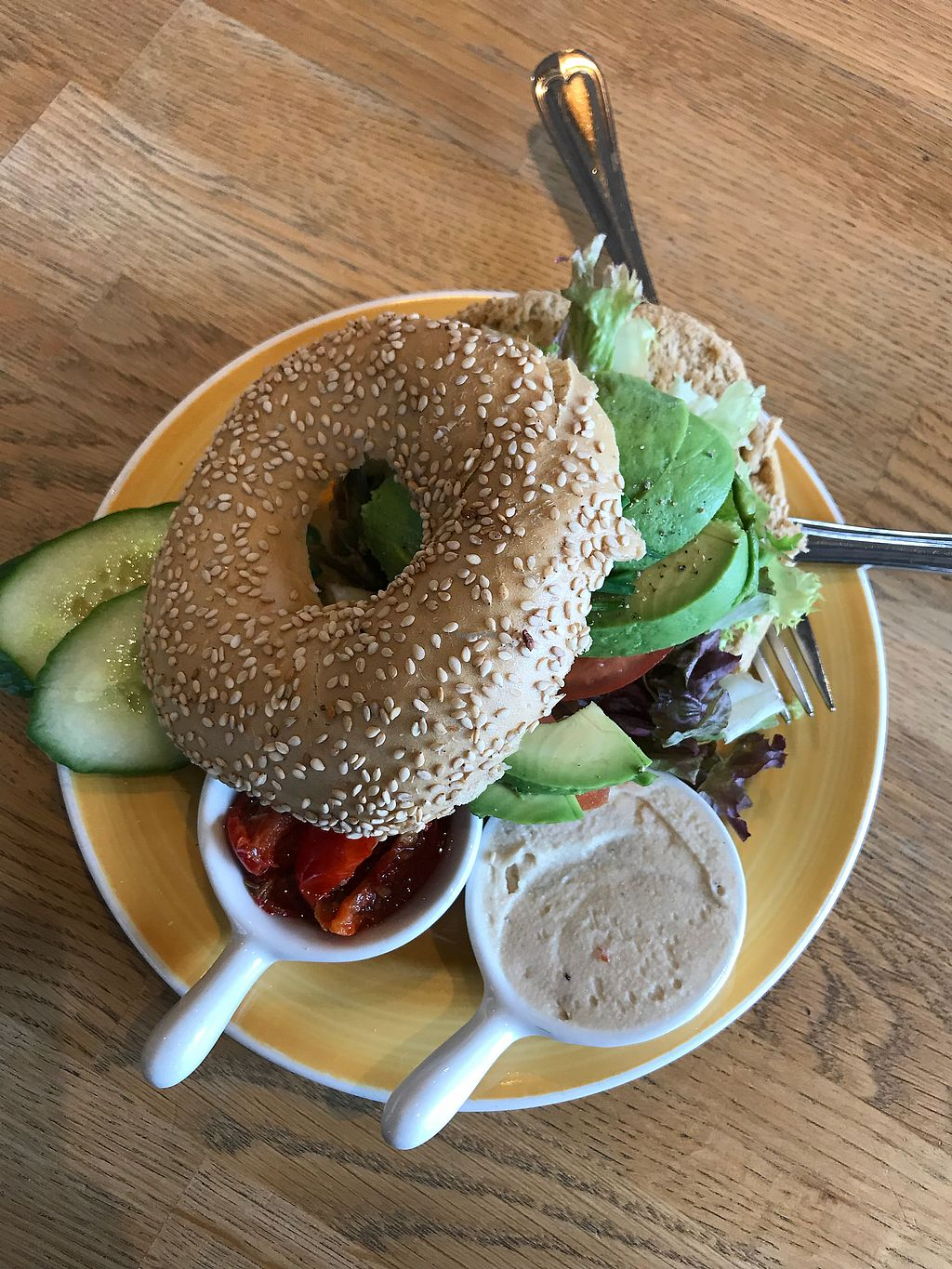 """Photo of Bagels & Beans  by <a href=""""/members/profile/TrangDang"""">TrangDang</a> <br/>Bagel <br/> April 9, 2018  - <a href='/contact/abuse/image/67869/382926'>Report</a>"""