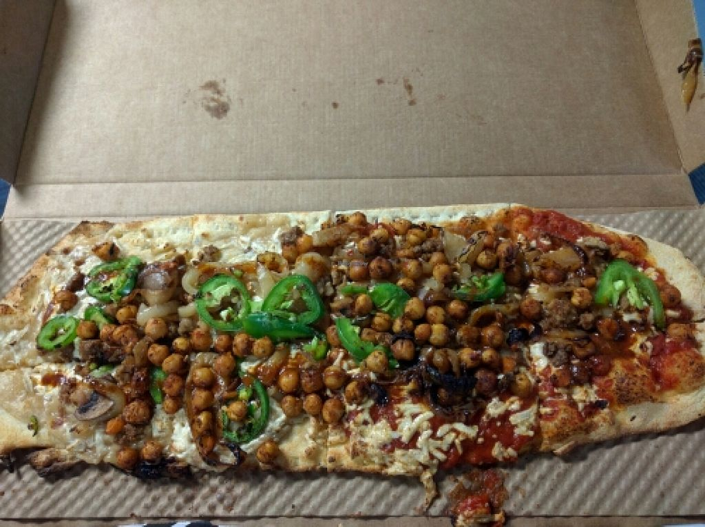 """Photo of &pizza - Airport  by <a href=""""/members/profile/VeganSoapDude"""">VeganSoapDude</a> <br/>Vegan pizza! Yay!  <br/> April 15, 2016  - <a href='/contact/abuse/image/67872/144733'>Report</a>"""