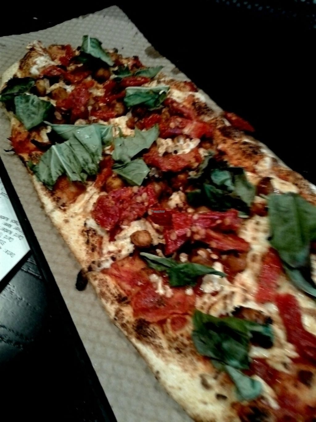 """Photo of &pizza - Airport  by <a href=""""/members/profile/JeffBlatnick"""">JeffBlatnick</a> <br/>spicy chickpea, wild grain crust, spicy sauce, basil, sun-dried tomatoes  <br/> April 24, 2017  - <a href='/contact/abuse/image/67872/252037'>Report</a>"""