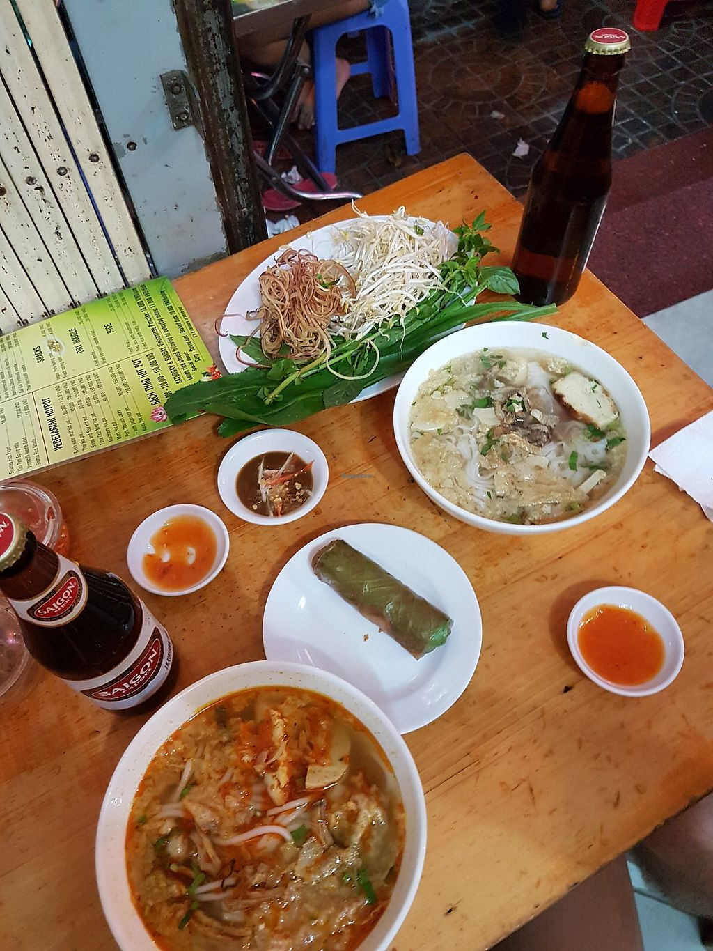 """Photo of Bach Thao  by <a href=""""/members/profile/SarahSofie"""">SarahSofie</a> <br/>Pho, beef noodle soup and a springroll <br/> January 18, 2018  - <a href='/contact/abuse/image/67891/348028'>Report</a>"""