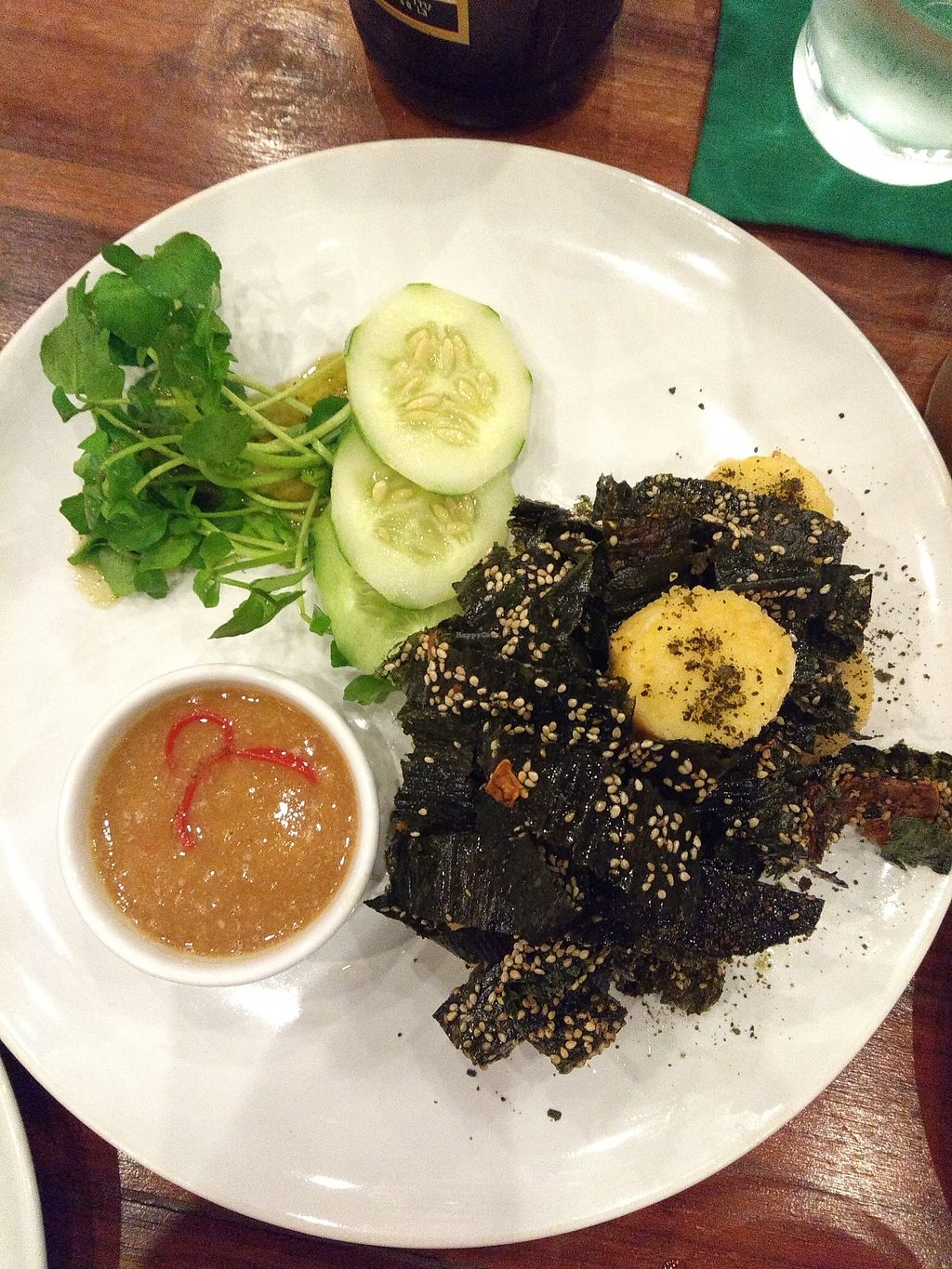"Photo of Khaiphaen  by <a href=""/members/profile/Kkdempsey"">Kkdempsey</a> <br/>Crispy seaweed was fantastic, unfortunately discovered afterwards that crispy tofu is made with egg tofu <br/> November 30, 2017  - <a href='/contact/abuse/image/67897/330731'>Report</a>"