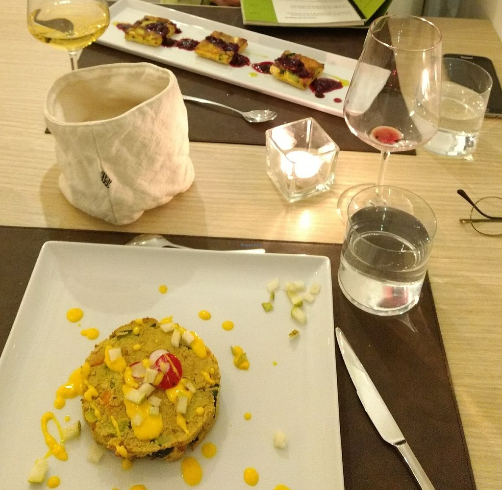 """Photo of beVegan  by <a href=""""/members/profile/Jan-E"""">Jan-E</a> <br/>Wonderful vegan (fron) and vegetarian (rear) main dishes served at beVegan <br/> July 23, 2017  - <a href='/contact/abuse/image/67907/283614'>Report</a>"""
