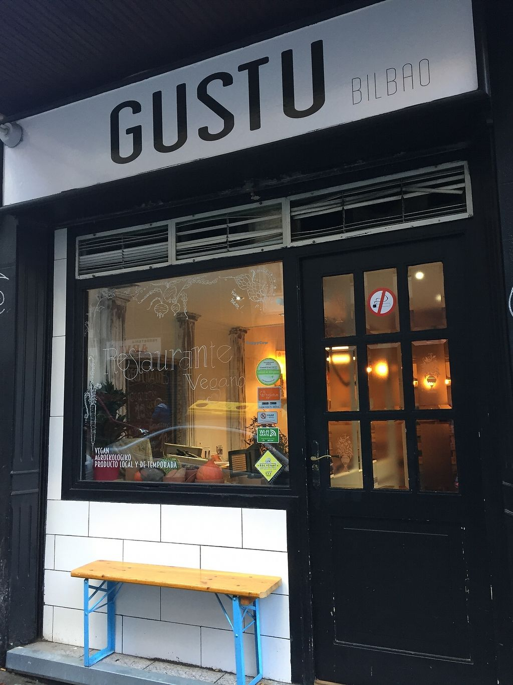 """Photo of Gustu Bilbao  by <a href=""""/members/profile/StevieSurf"""">StevieSurf</a> <br/>Gusto exterior  <br/> December 24, 2017  - <a href='/contact/abuse/image/67915/338627'>Report</a>"""