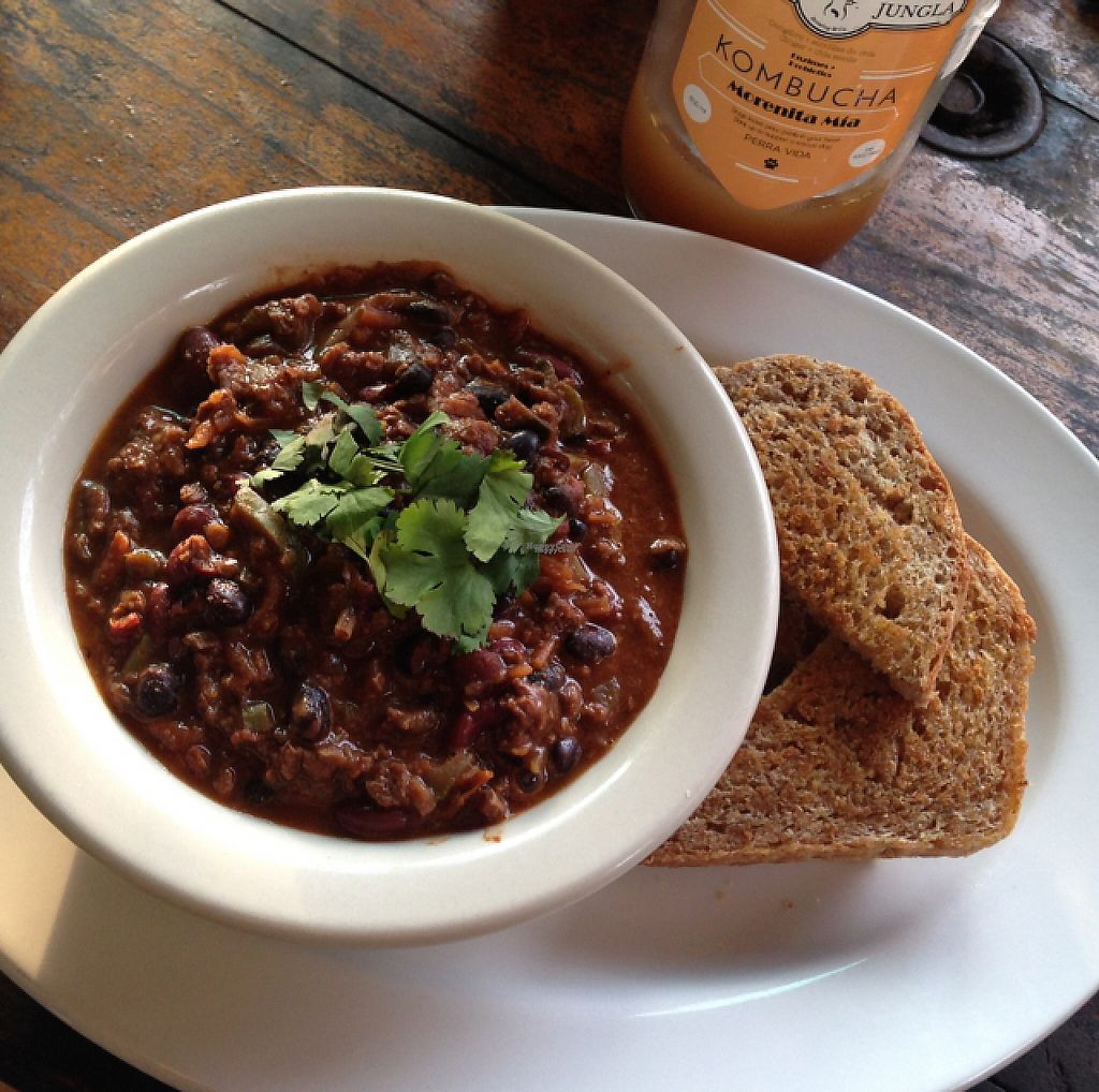 """Photo of Cafe Mono Congo  by <a href=""""/members/profile/Shxylah"""">Shxylah</a> <br/>Vegan Chili got me missing this place <br/> April 26, 2017  - <a href='/contact/abuse/image/67920/252762'>Report</a>"""
