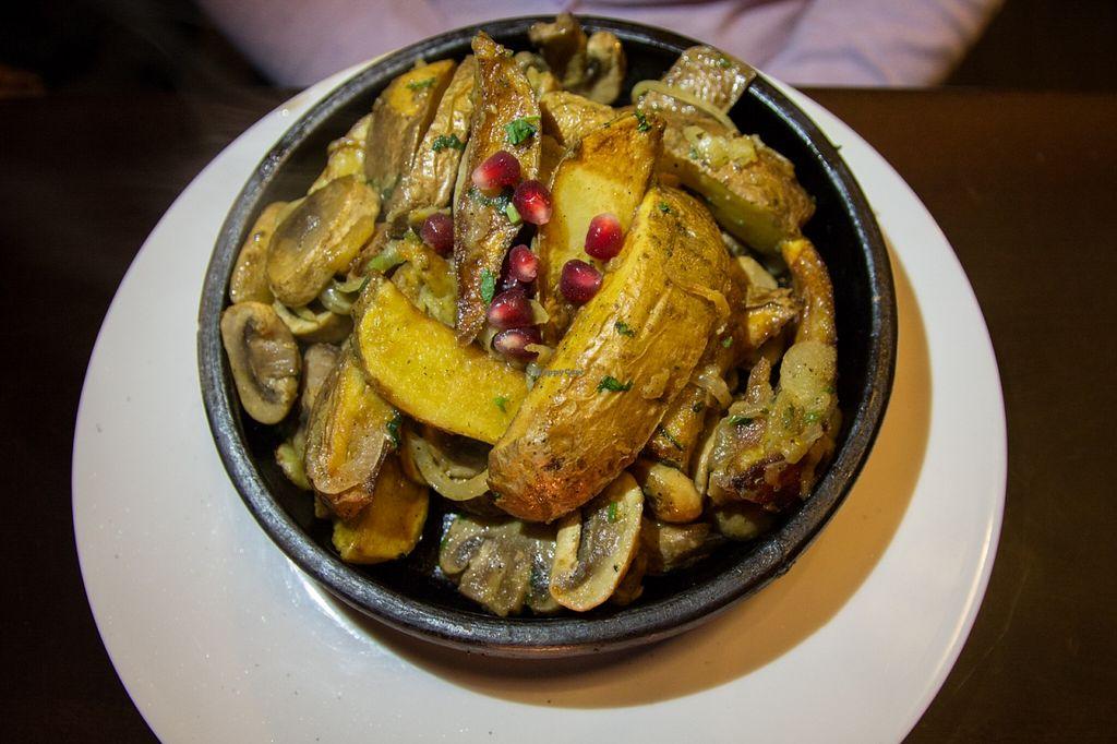 "Photo of Tbilissi Bar-Resto-Lounge  by <a href=""/members/profile/SVEggieSI"">SVEggieSI</a> <br/>Odjakhuri - Mushrooms with potato wedges <br/> January 31, 2016  - <a href='/contact/abuse/image/67949/134307'>Report</a>"