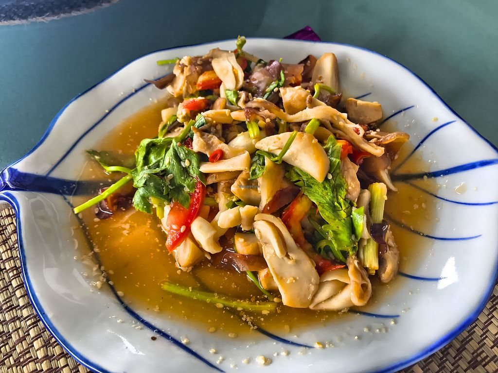"""Photo of 108 Vegetarian Cuisine  by <a href=""""/members/profile/SoniaGivray"""">SoniaGivray</a> <br/>Stir fried mushrooms  <br/> September 14, 2017  - <a href='/contact/abuse/image/67962/304159'>Report</a>"""