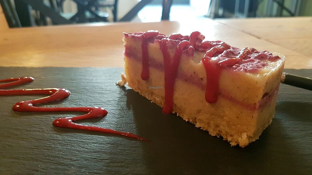 """Photo of Zest for Life  by <a href=""""/members/profile/VeganCrush"""">VeganCrush</a> <br/>Raspberry Cheese Cake <br/> September 26, 2017  - <a href='/contact/abuse/image/67972/308620'>Report</a>"""