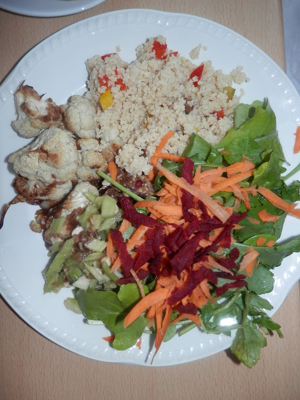 """Photo of Green Britain Centre Vegan Cafe  by <a href=""""/members/profile/Vegan_Belle"""">Vegan_Belle</a> <br/>Couscous and salad <br/> July 3, 2017  - <a href='/contact/abuse/image/67973/276311'>Report</a>"""