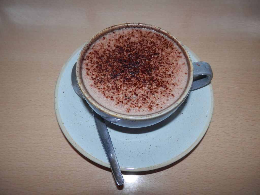 """Photo of Green Britain Centre Vegan Cafe  by <a href=""""/members/profile/Vegan_Belle"""">Vegan_Belle</a> <br/>Hot chocolate <br/> March 2, 2018  - <a href='/contact/abuse/image/67973/365860'>Report</a>"""