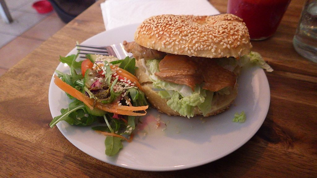 "Photo of Black Sheep Cafe  by <a href=""/members/profile/deadpledge"">deadpledge</a> <br/>Mock duck and salad seeded bun <br/> April 22, 2017  - <a href='/contact/abuse/image/67984/250911'>Report</a>"