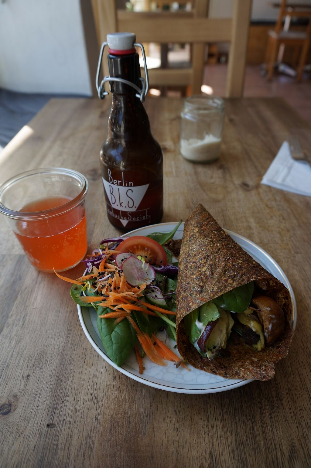 "Photo of Black Sheep Cafe  by <a href=""/members/profile/Ricardo"">Ricardo</a> <br/>Wrap + Kombucha <br/> September 3, 2017  - <a href='/contact/abuse/image/67984/300414'>Report</a>"