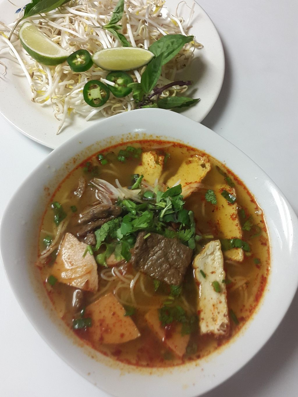 """Photo of Loving Vegan Market & Cuisine  by <a href=""""/members/profile/Loving%20Vegan%20Cuisine"""">Loving Vegan Cuisine</a> <br/>How about a good hot soup for a chilly winter evening. This popular Bun Hue originating from Central Aulac (Vietnam) shall satisfy you <br/> March 11, 2016  - <a href='/contact/abuse/image/67993/139634'>Report</a>"""
