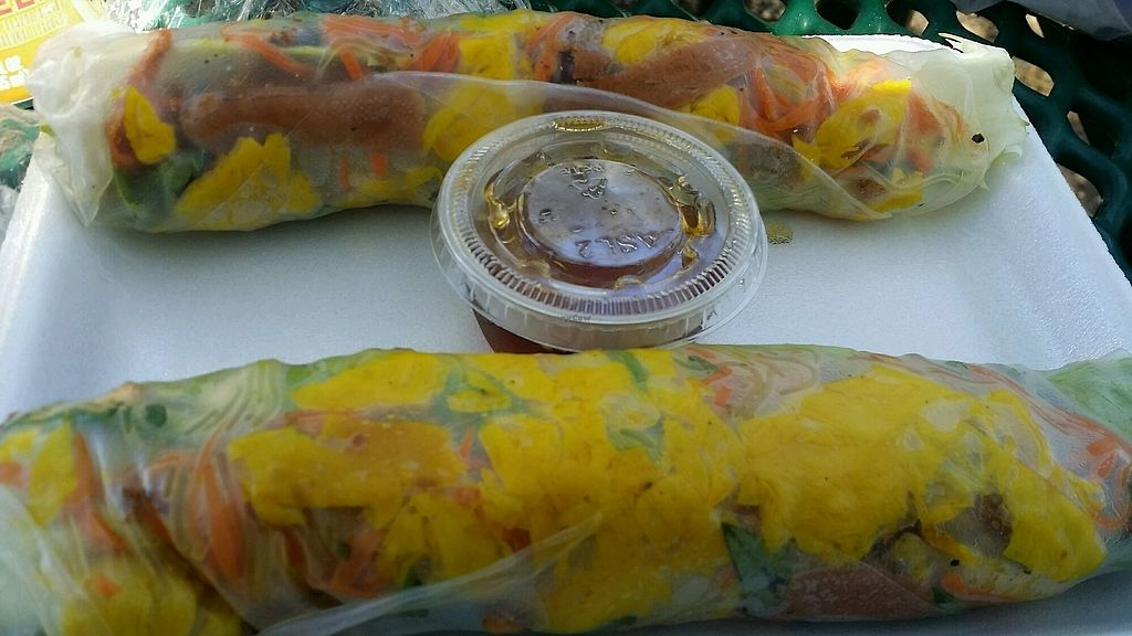 """Photo of Loving Vegan Market & Cuisine  by <a href=""""/members/profile/maltinej"""">maltinej</a> <br/>basil spring rolls <br/> March 16, 2018  - <a href='/contact/abuse/image/67993/371498'>Report</a>"""