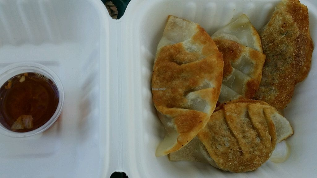 """Photo of Loving Vegan Market & Cuisine  by <a href=""""/members/profile/maltinej"""">maltinej</a> <br/>fried dumplings <br/> March 16, 2018  - <a href='/contact/abuse/image/67993/371499'>Report</a>"""