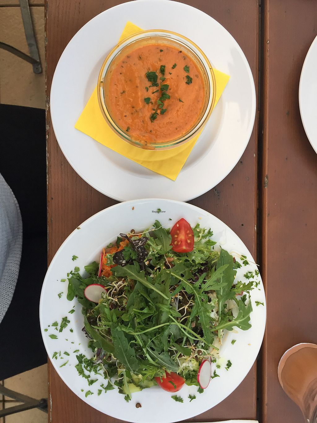 "Photo of Gasthaus zum Anker  by <a href=""/members/profile/vegandesi.res"">vegandesi.res</a> <br/>Vegan tomato creme soup and mixed salad <br/> September 1, 2017  - <a href='/contact/abuse/image/67995/299755'>Report</a>"