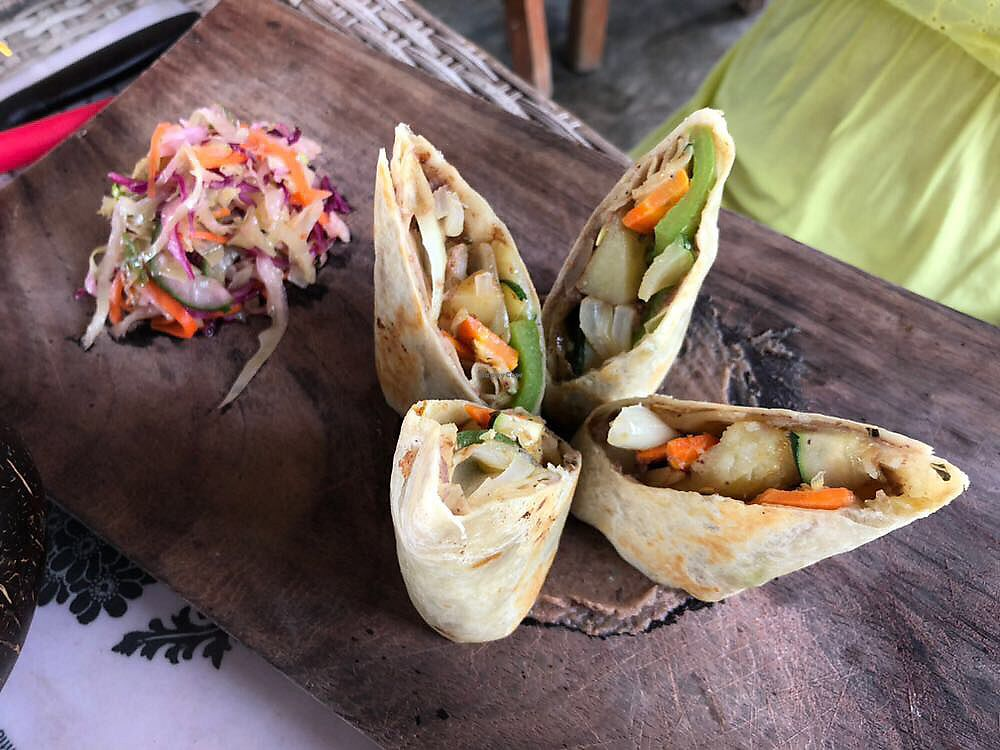 """Photo of The Mexican Kitchen  by <a href=""""/members/profile/LaurieKing"""">LaurieKing</a> <br/>Vegan burrito  <br/> November 2, 2017  - <a href='/contact/abuse/image/68024/321027'>Report</a>"""