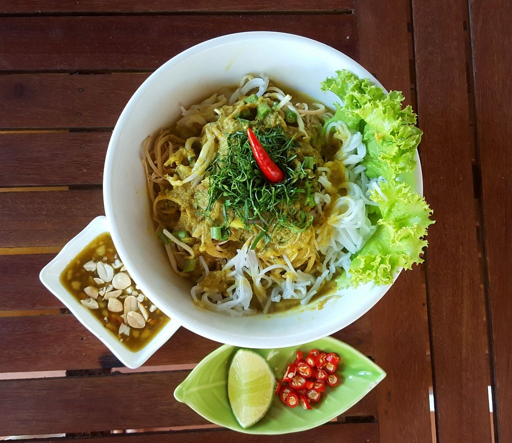"""Photo of Dalai Cafe  by <a href=""""/members/profile/AmaurySiemReap"""">AmaurySiemReap</a> <br/>Rice noodle with coconut paste and lemongrass sauce <br/> January 10, 2016  - <a href='/contact/abuse/image/68025/131818'>Report</a>"""