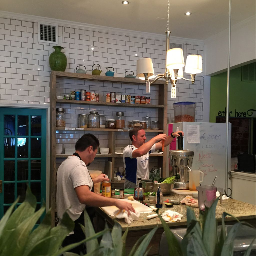"""Photo of Pure Food and Juice  by <a href=""""/members/profile/earthville"""">earthville</a> <br/>open kitchen <br/> September 3, 2016  - <a href='/contact/abuse/image/68058/173291'>Report</a>"""