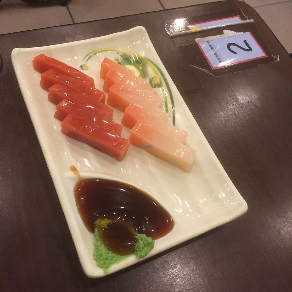 """Photo of Chuan Zhen Vegetarian  by <a href=""""/members/profile/Vlad"""">Vlad</a> <br/>Vegetarian Japanese sashimi <br/> January 22, 2017  - <a href='/contact/abuse/image/68064/214531'>Report</a>"""