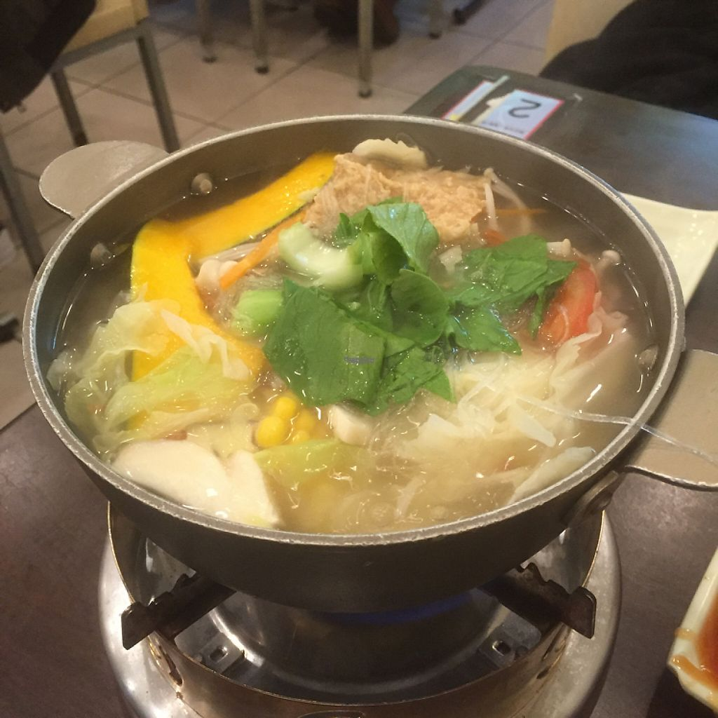 """Photo of Chuan Zhen Vegetarian  by <a href=""""/members/profile/Vlad"""">Vlad</a> <br/>The 'Normal' flavored hotpot <br/> January 22, 2017  - <a href='/contact/abuse/image/68064/214534'>Report</a>"""