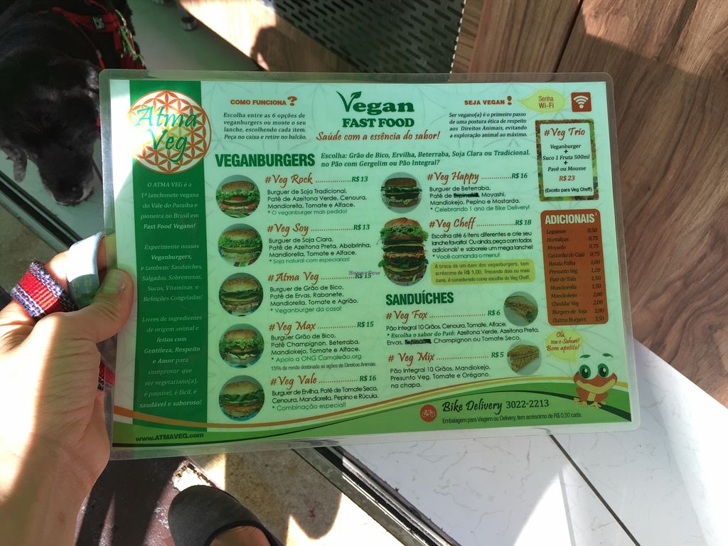 """Photo of Atma Veg  by <a href=""""/members/profile/Paolla"""">Paolla</a> <br/>Menu <br/> January 9, 2016  - <a href='/contact/abuse/image/68076/131684'>Report</a>"""
