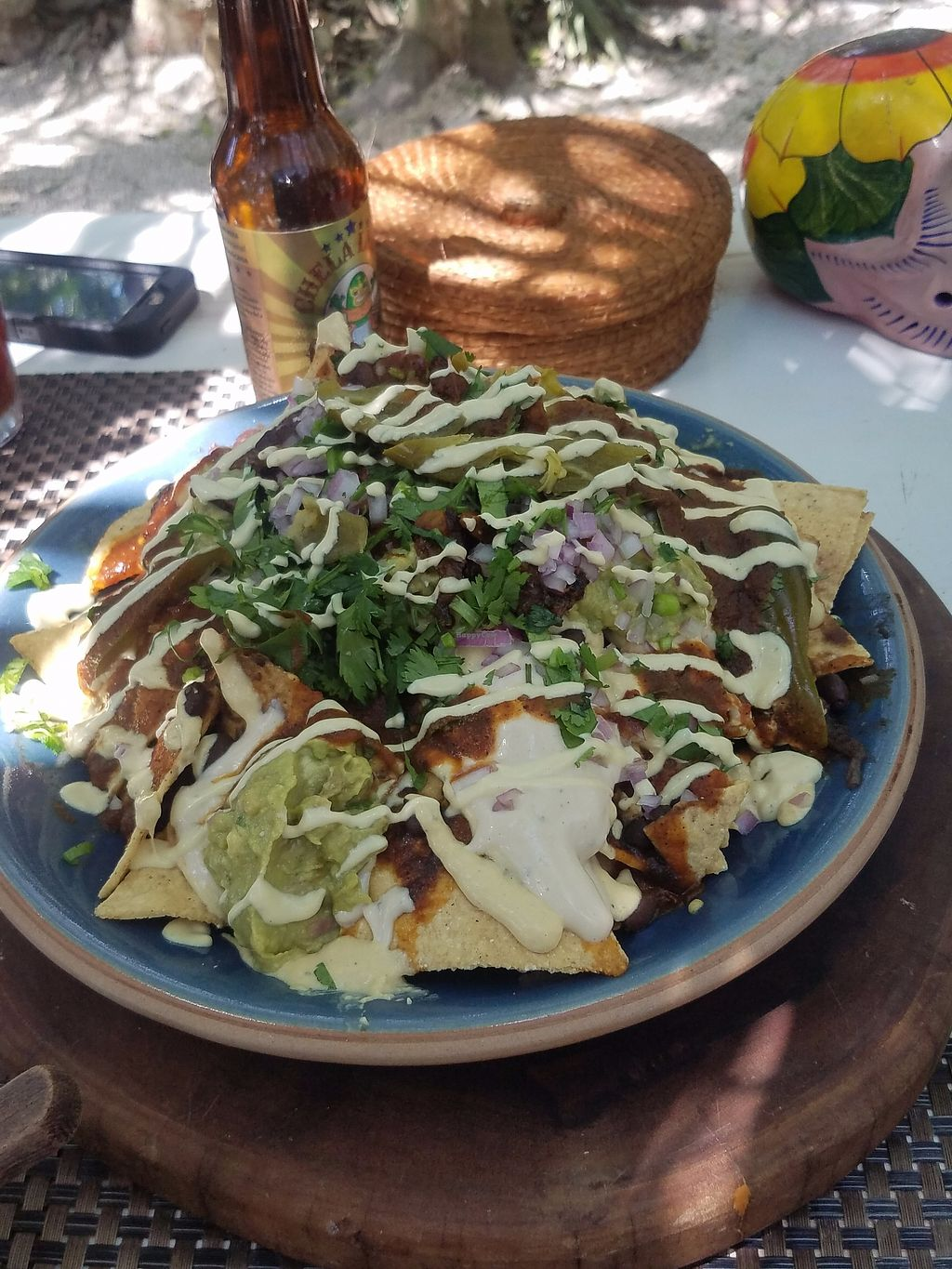 """Photo of Charly's Vegan Tacos - Food Truck  by <a href=""""/members/profile/Heather%20Vegan%20Diggs"""">Heather Vegan Diggs</a> <br/>Machos Nachos <br/> July 20, 2017  - <a href='/contact/abuse/image/68102/282641'>Report</a>"""