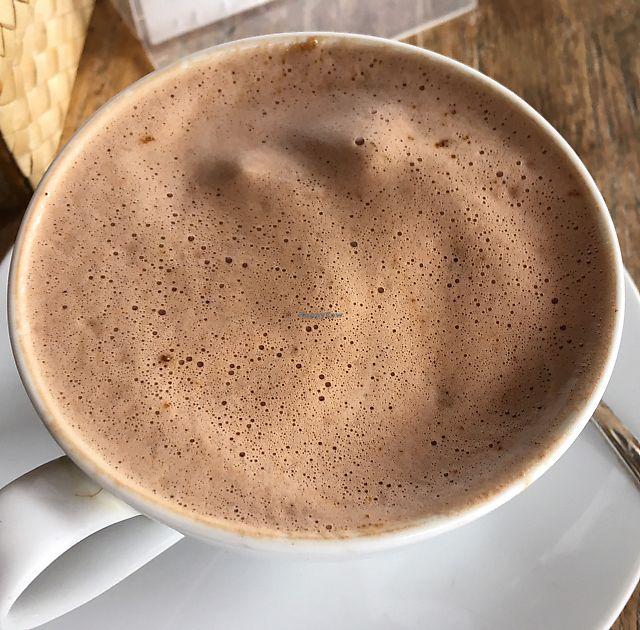 "Photo of Eden Cafe  by <a href=""/members/profile/samesamebutvegan"">samesamebutvegan</a> <br/>vegan hot chocolate, 85%, with soymilk <br/> June 20, 2017  - <a href='/contact/abuse/image/68113/271249'>Report</a>"