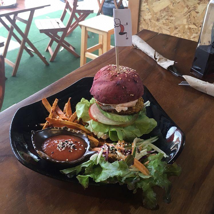 "Photo of REMOVED: Yogi Cafe - Zen Retreat  by <a href=""/members/profile/Abdulaziz"">Abdulaziz</a> <br/>vegan burger with sweet potato  <br/> September 13, 2016  - <a href='/contact/abuse/image/68153/175397'>Report</a>"