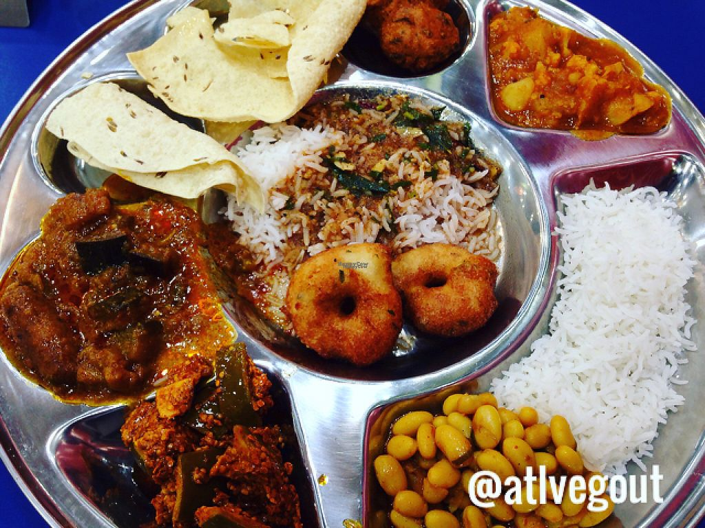 """Photo of CLOSED: Chopaati  by <a href=""""/members/profile/calamaestra"""">calamaestra</a> <br/>vegan thali  <br/> December 18, 2016  - <a href='/contact/abuse/image/68184/202678'>Report</a>"""