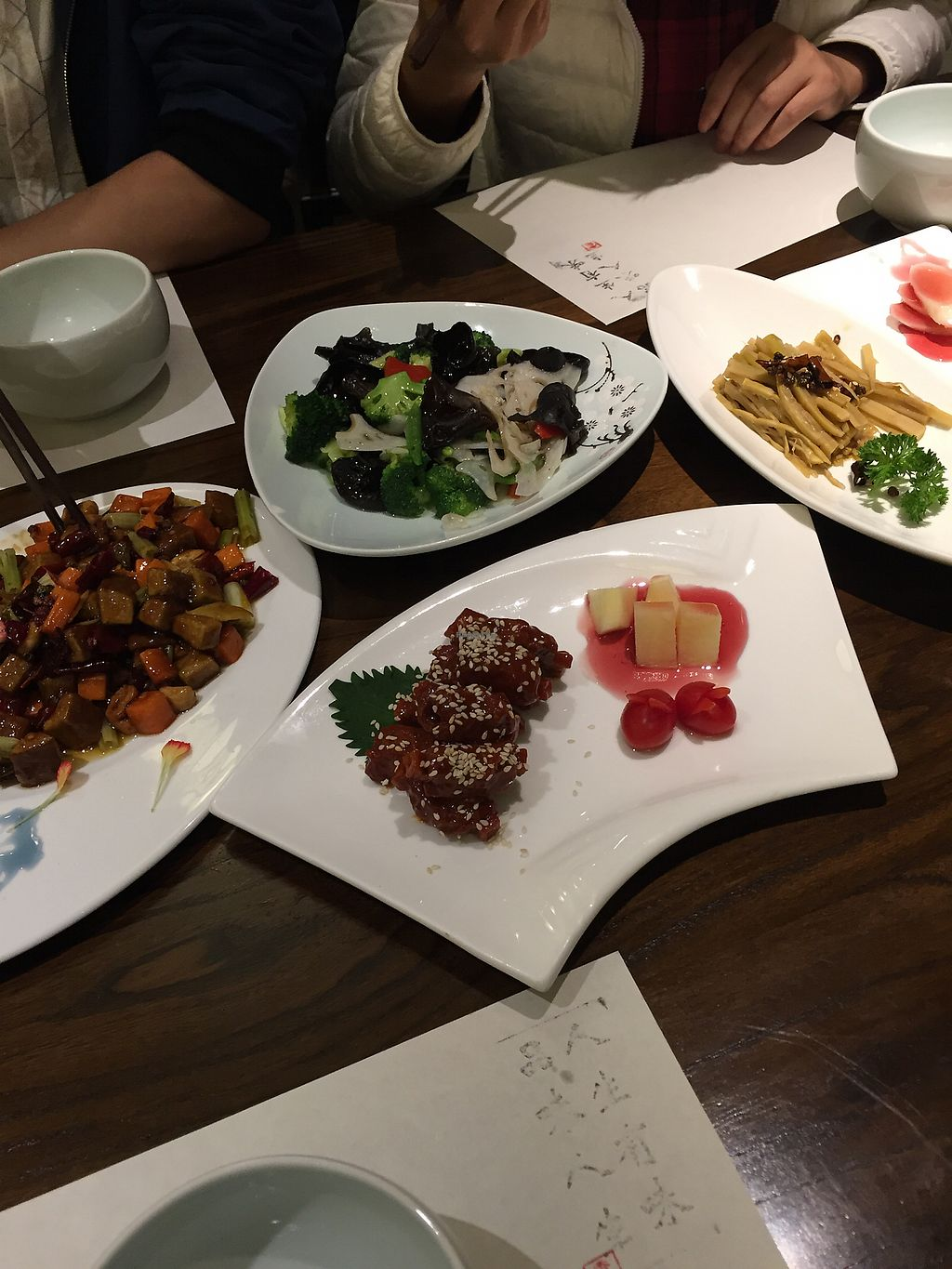 """Photo of Wenshu Temple Restaurant  by <a href=""""/members/profile/H2OAddict"""">H2OAddict</a> <br/>A sample of the dishes we ordered <br/> November 14, 2017  - <a href='/contact/abuse/image/68196/325496'>Report</a>"""