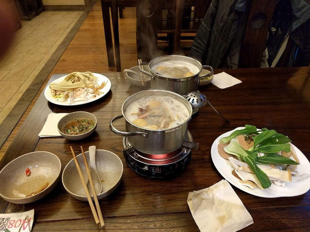 """Photo of Wenshu Temple Restaurant  by <a href=""""/members/profile/Arti"""">Arti</a> <br/>Buffet style hot pot <br/> December 25, 2017  - <a href='/contact/abuse/image/68196/339062'>Report</a>"""